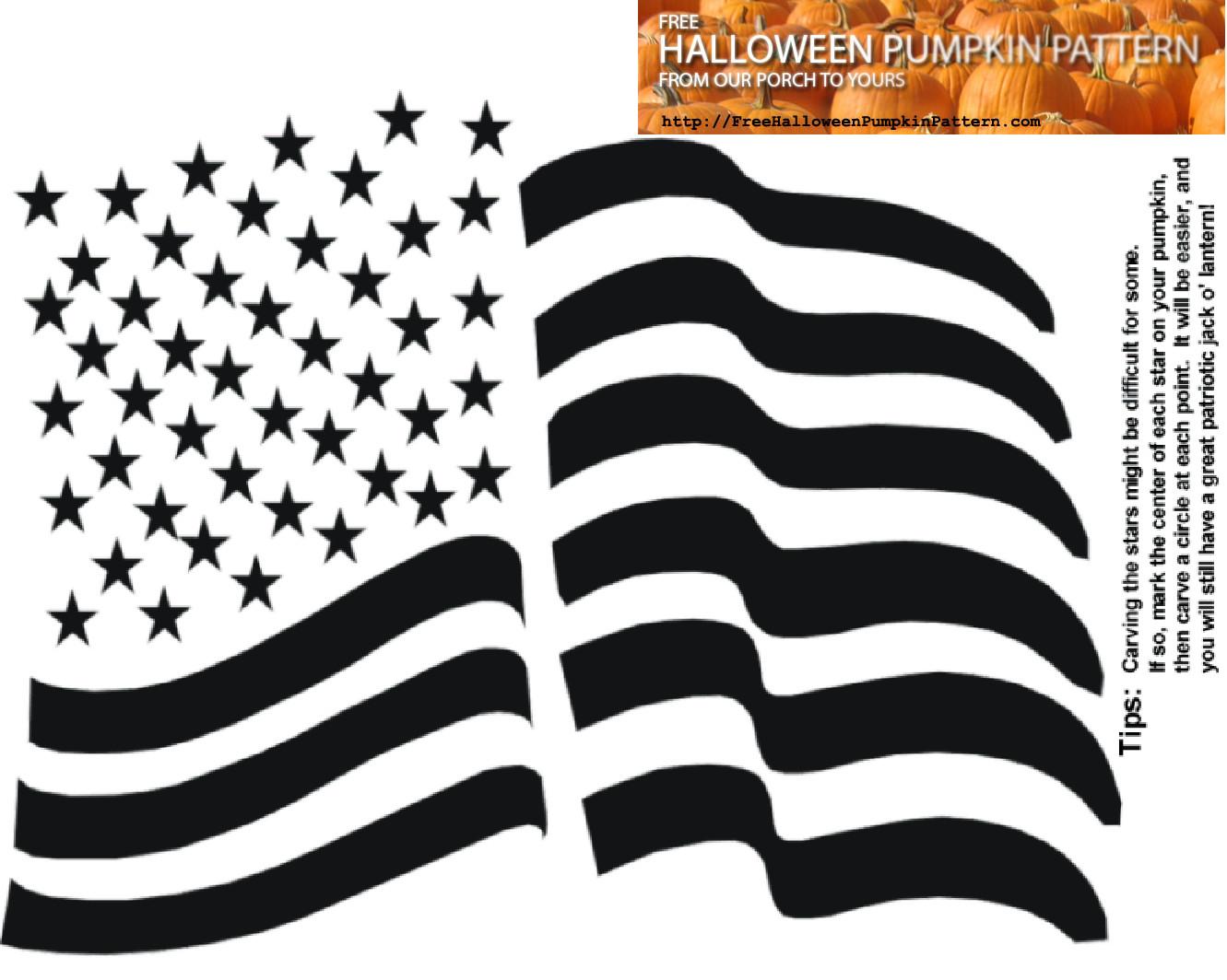 American Flag Pumpkin Carving Template Download A Free Halloween Pumpkin Pattern