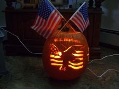 American Flag Pumpkin Carving Template Marine Corps On Pinterest