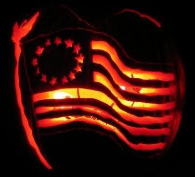 American Flag Pumpkin Carving Template original American Flag Carved Into Pumpkin