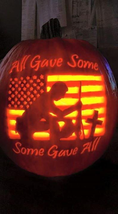 American Flag Pumpkin Carving Template Venerable Veterans