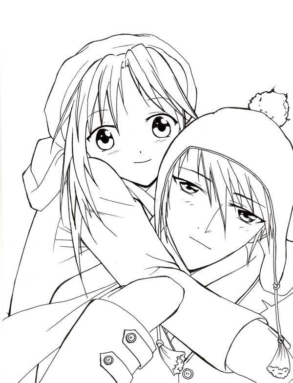Anime Couple Template Anime Couple Coloring Pages Projects to Try