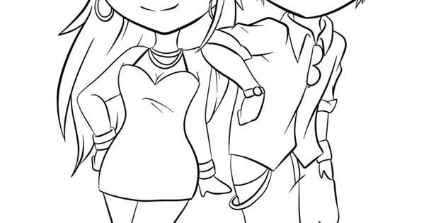 Anime Couple Template Cute Anime Chibi Couples Kissing Coloring Pages Coloring Pages