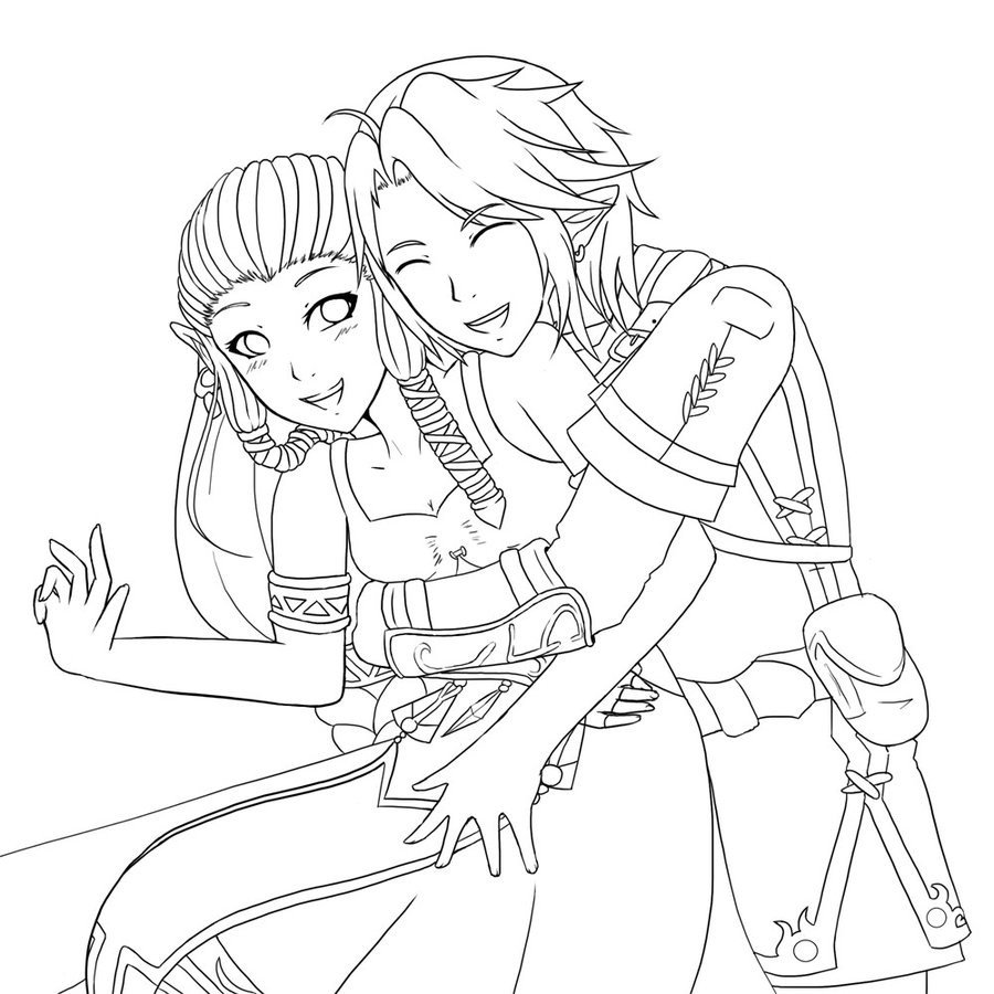 Anime Couple Template Cute Anime Couple Hugging Coloring Pages