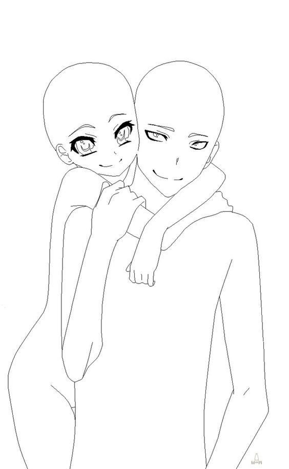 Anime Couple Template Pin by Leia On Drawings