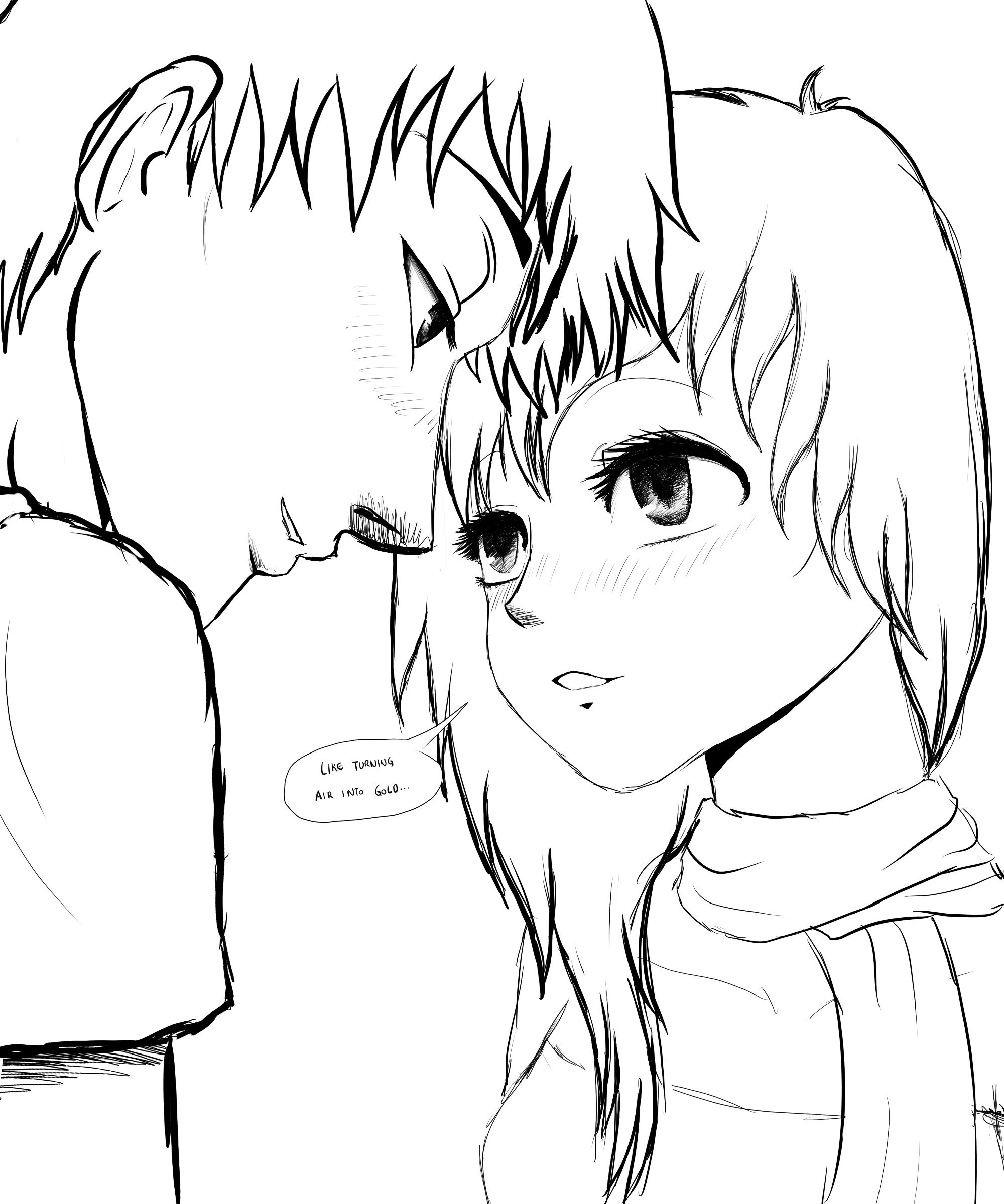 Anime Couple Template Wade and Luna Oc Manga Couple Sketch by Sylunahirokashi