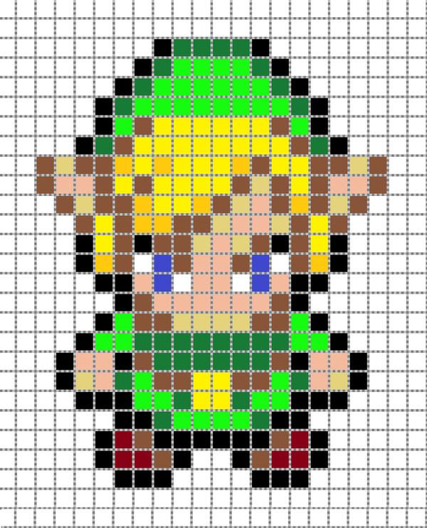 Anime Pixel Art Grid Link Pixel Art 2 Grid by Matbox99 On Deviantart