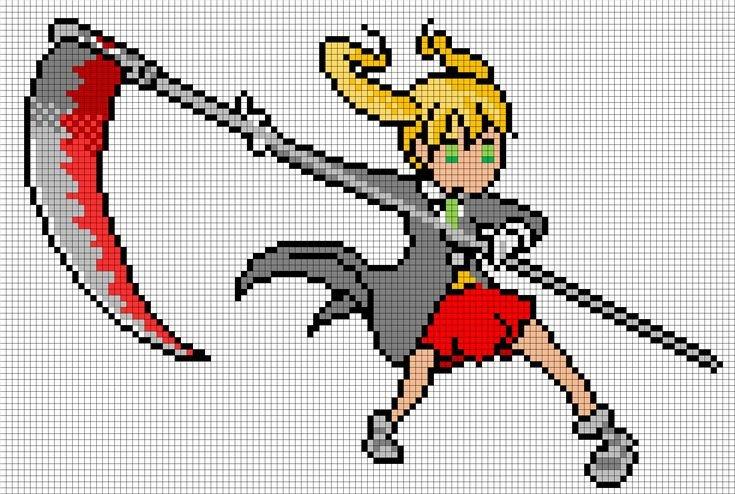 Anime Pixel Art Grid Maka From soul Eater