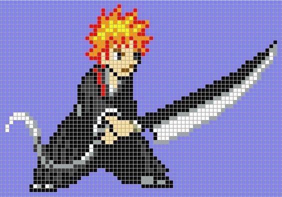 Anime Pixel Art Grid Minecraft Anime Pixel Art