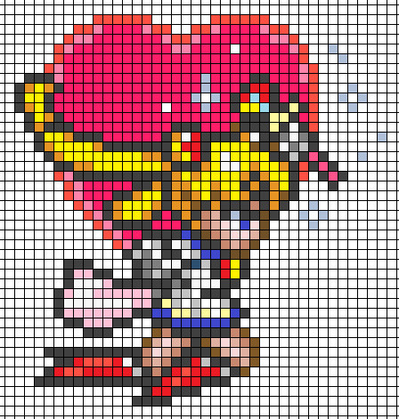 Anime Pixel Art Grid Perler Bead Projects Perler Step by Step Sailor Moon
