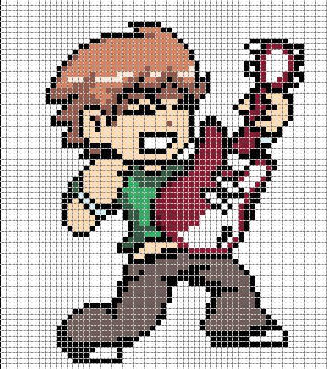 Anime Pixel Art Grid Scott Pilgrim General Pixel Art to Do