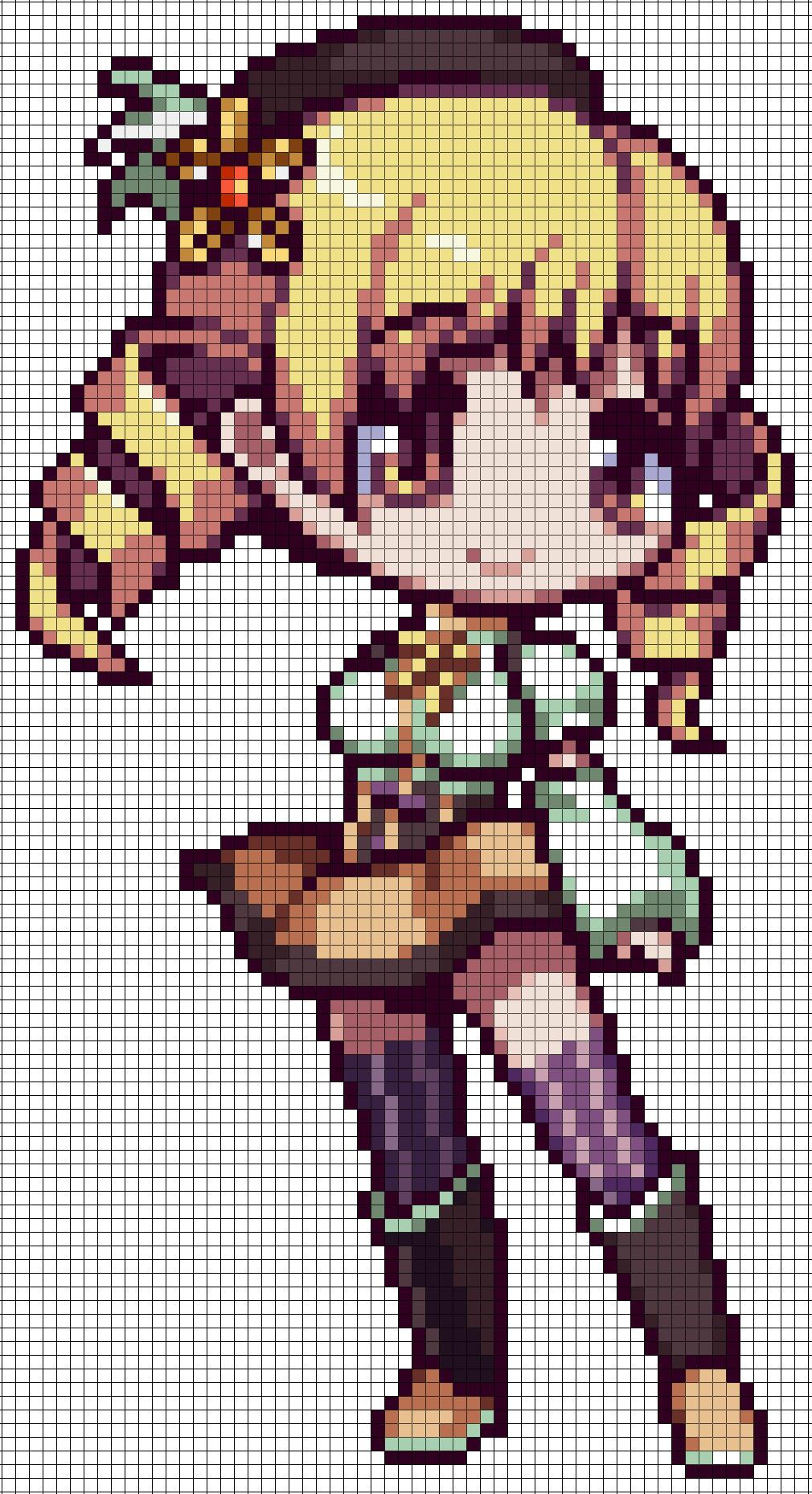 Anime Pixel Art Grid Tutorials On Perler Beads Deviantart