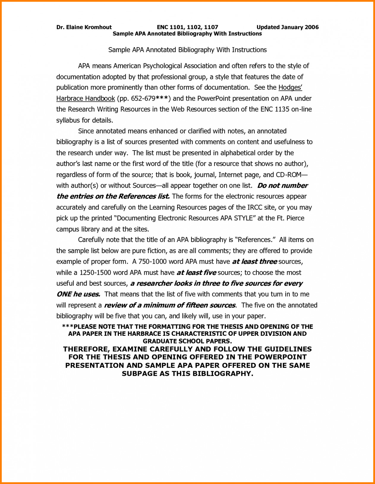 Annotated Bibliography Template Apa Annotated Bibliography Apa Sample format Definition and