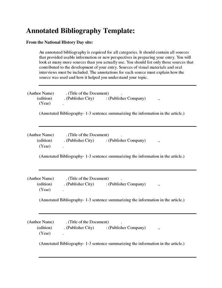 Annotated Bibliography Template Apa Free Apa Annotated Bibliography Template
