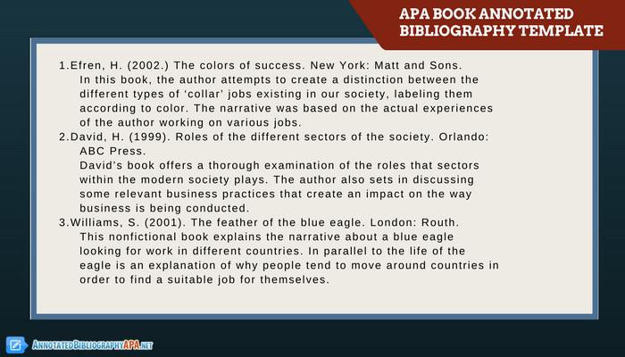 Annotated Bibliography Template Apa Get An Apa Annotated Bibliography Template