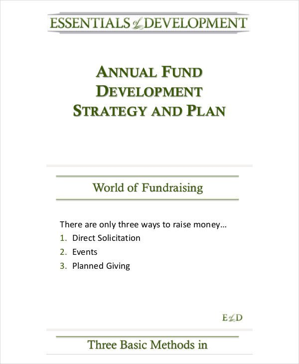 Annual Fundraising Plan Template 55 Strategic Plan Samples Word Pdf