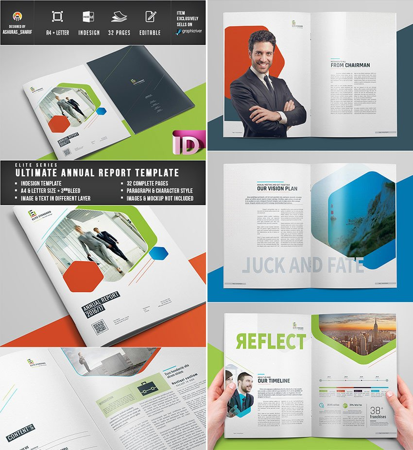 Annual Report Design Templates 25 Annual Report Templates with Awesome Indesign Layouts