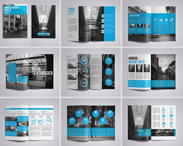 Annual Report Design Templates 40 Best Corporate Indesign Annual Report Templates – Bashooka