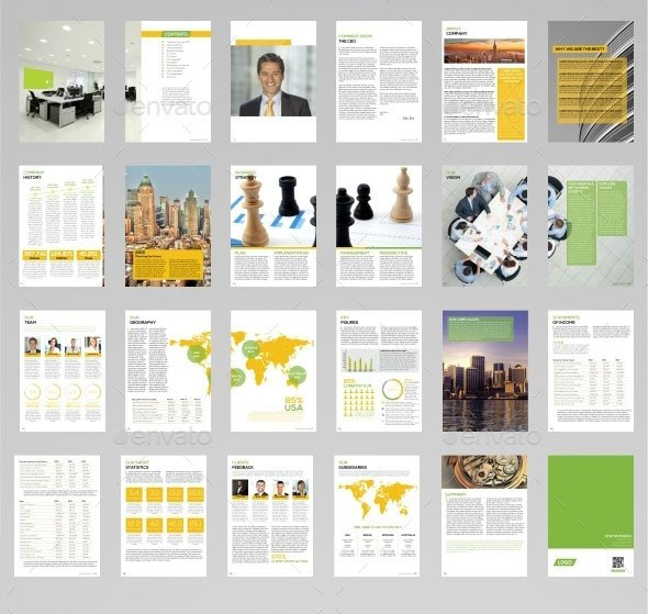 Annual Report Design Templates 40 Best Corporate Indesign Annual Report Templates
