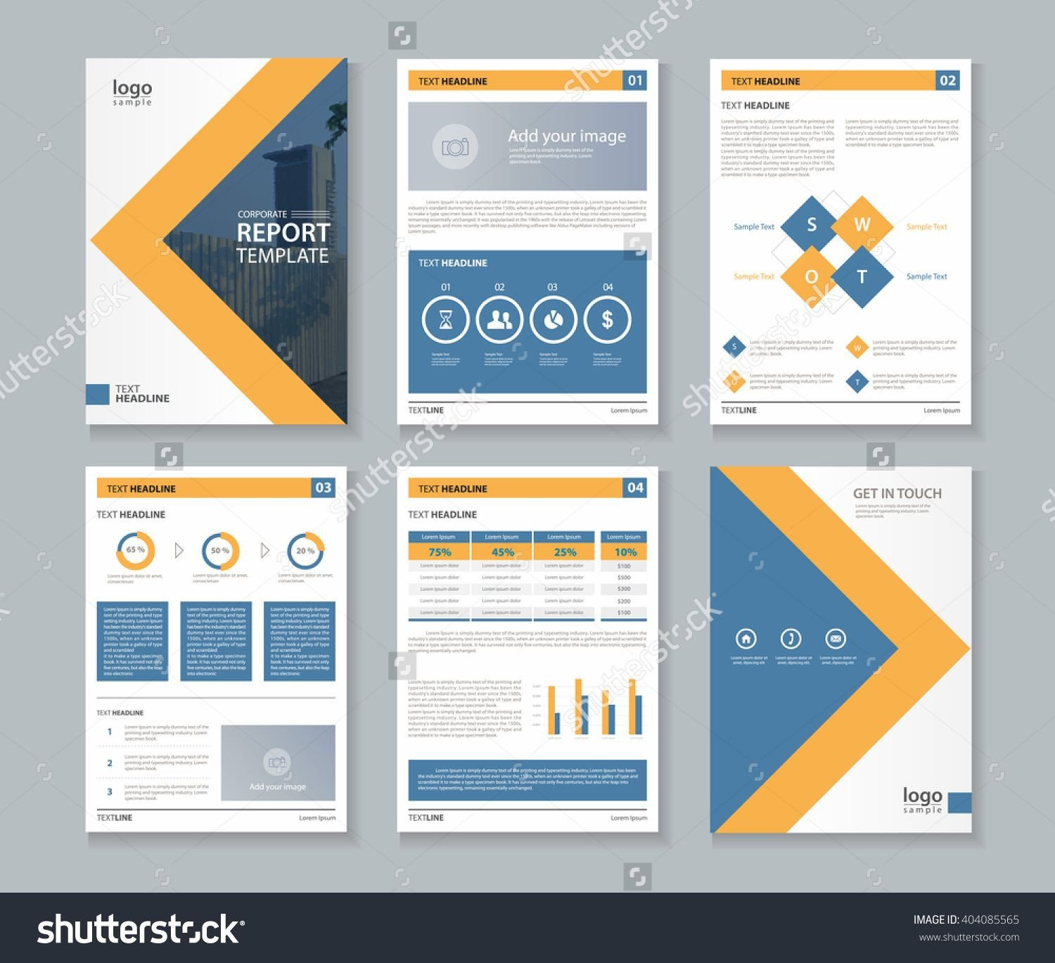 Annual Report Design Templates Stock Vector Pany Profile Annual Report Brochure Fl
