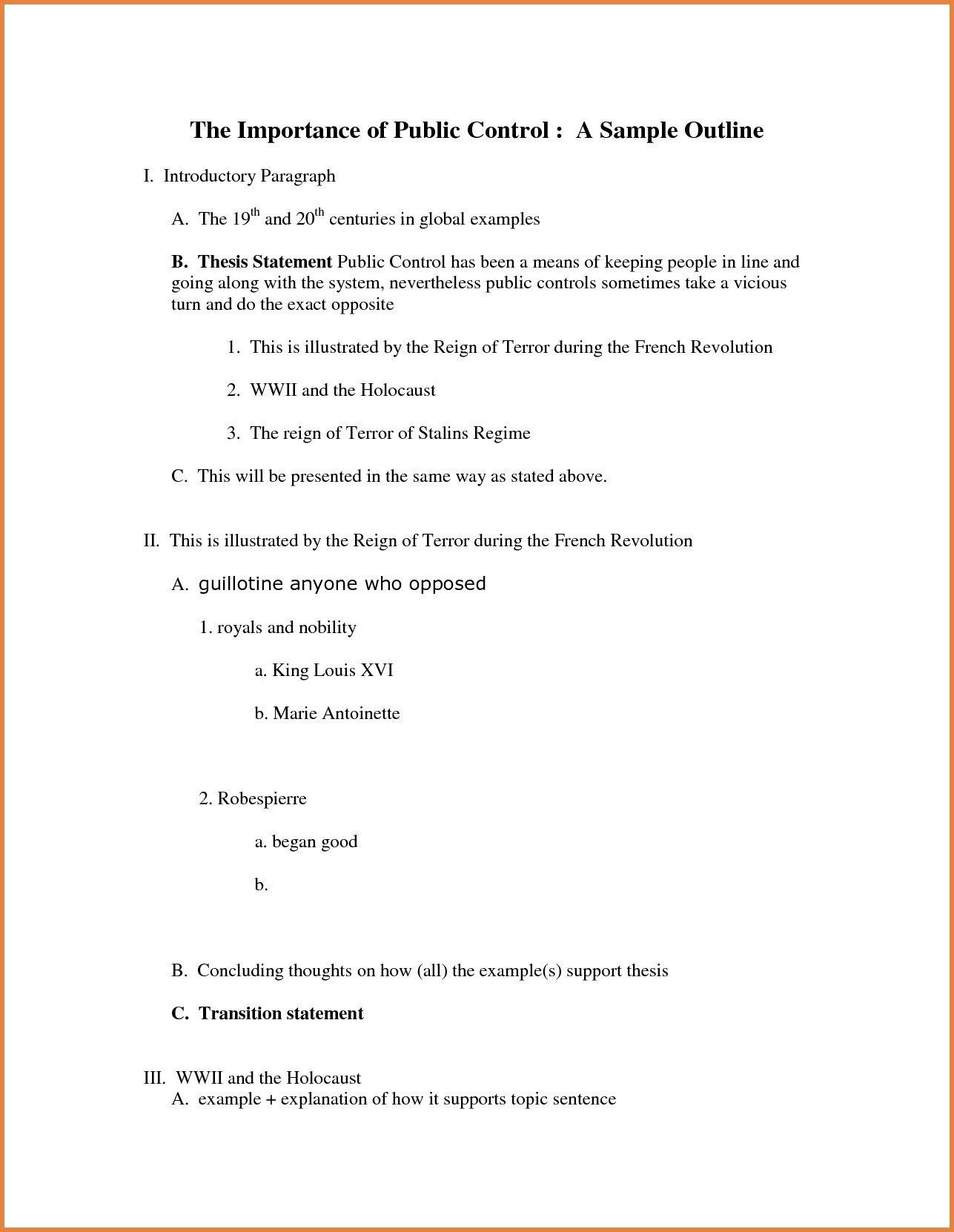 Apa formal Outline Apa Outline Examples Pdf