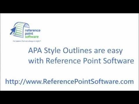 Apa formal Outline Apa Style Outlines