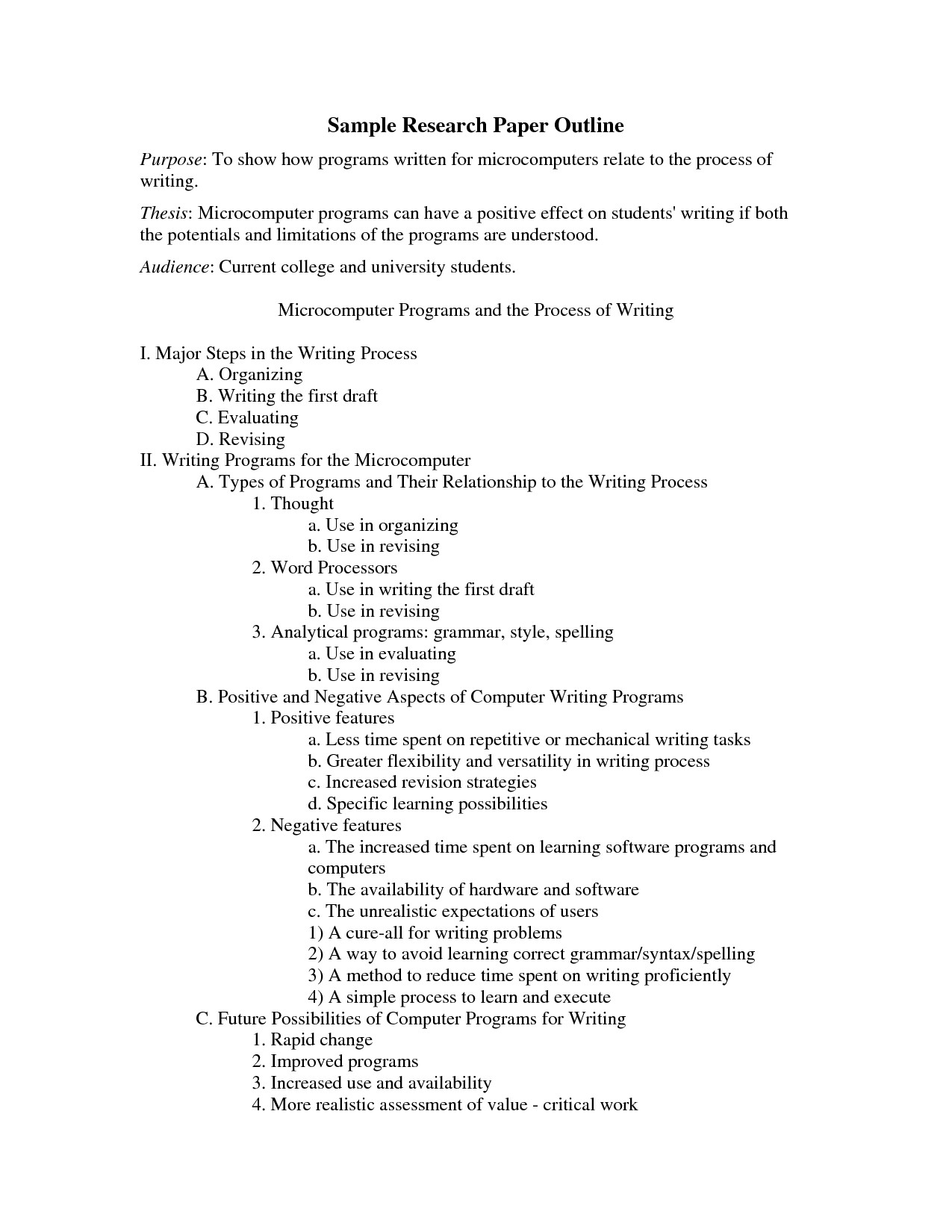 Apa formal Outline Other Template Category Page 1 Urlspark