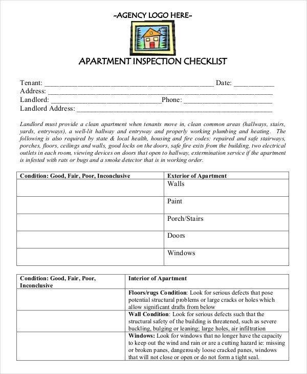 Apartment Maintenance Checklist Template Apartment Maintenance Checklist Nice Apartement