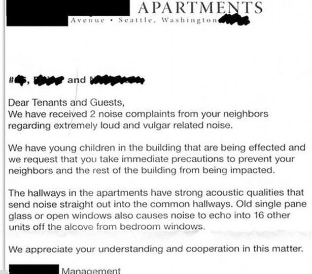 Apartment Noise Complaint Letter Fed Up Neighbours Plaint Letters About Loud Prove