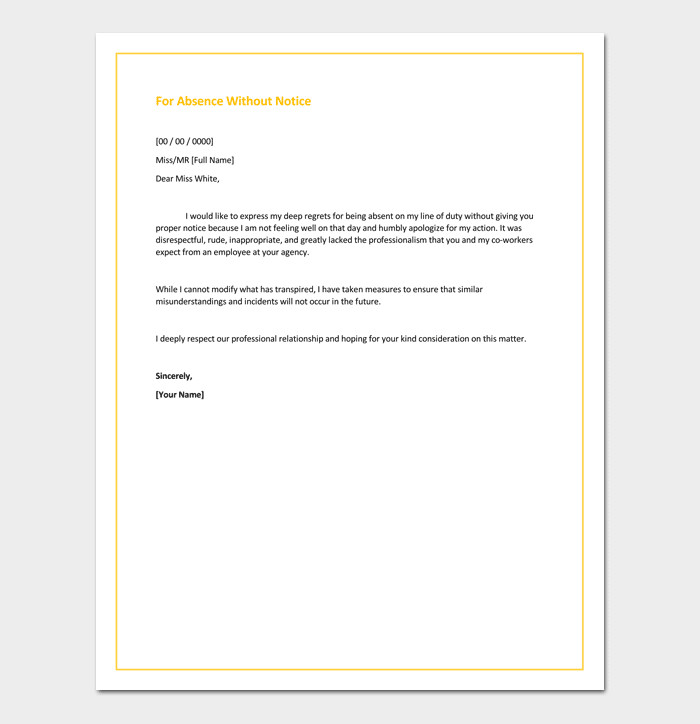Apology Letter to Boss Apology Letter Template 33 Samples Examples & formats