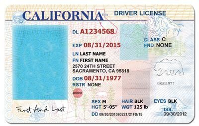 Arizona Id Template California Drivers License Template Google Search