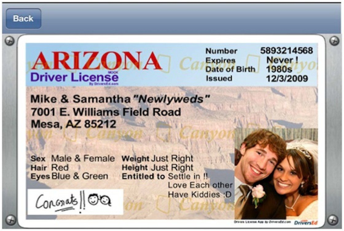 Arizona Id Template Developer Of Fake Driver S License App Responds to Apple