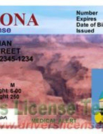 Arizona Id Template Drivers License Fake Drivers License Drivers License