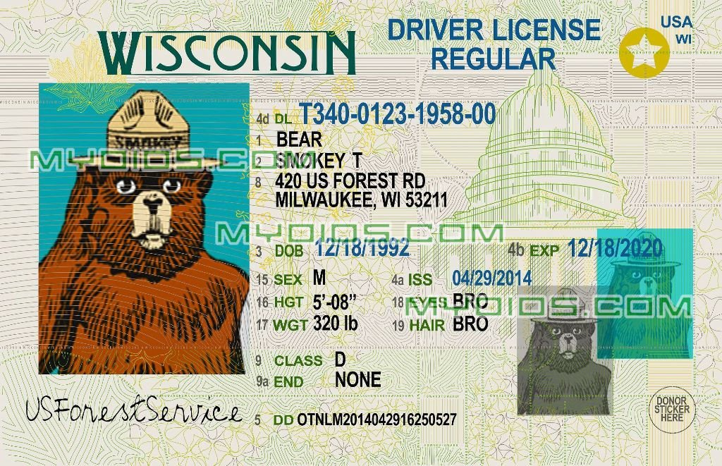 Arizona Id Template Free Fake Id Templates