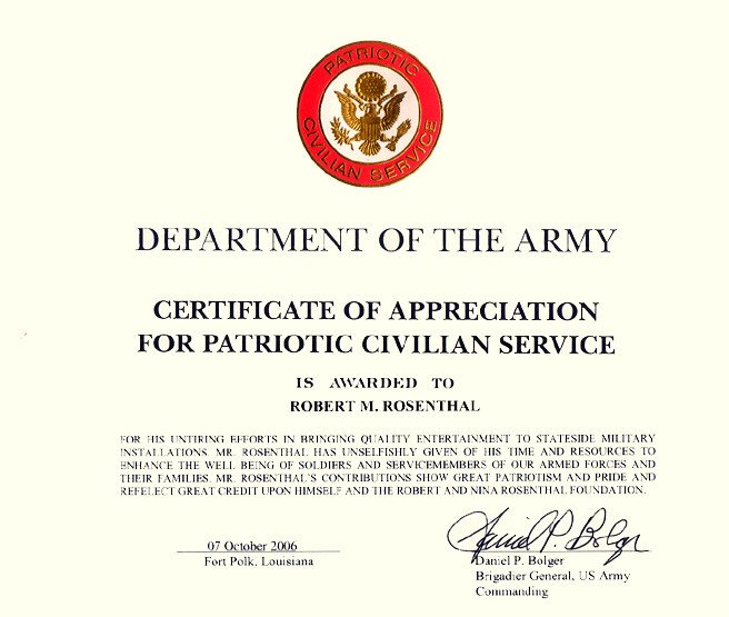 Army Certificate Of Appreciation Antagonist Placeholder