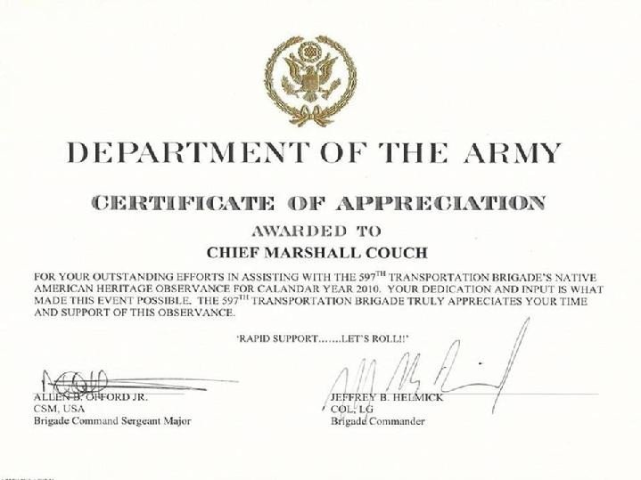 Army Certificate Of Appreciation Army Spouse Certificate Of Appreciation Example