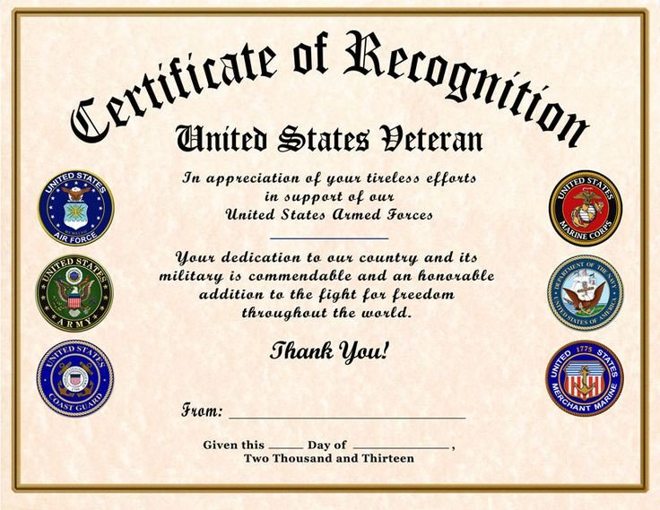 Army Certificate Of Appreciation Certificate Of Appreciation Template