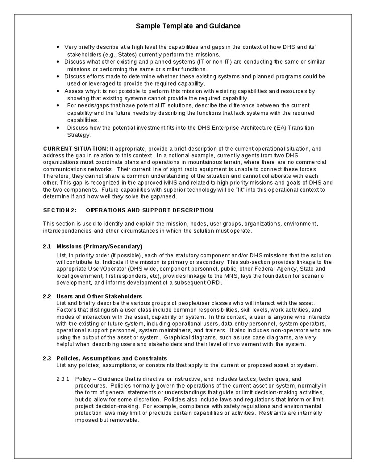 Army Conop Example 30 Of Templates Concept Operations
