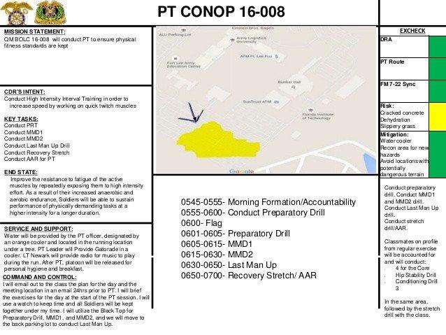 Army Conop Example Army Pt Conop