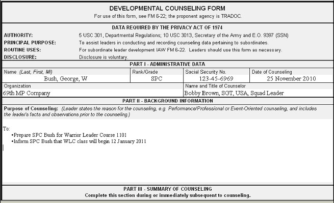 Army Initial Counseling form Army Initial Counseling Examples 4856 Hugo Bs S Blog