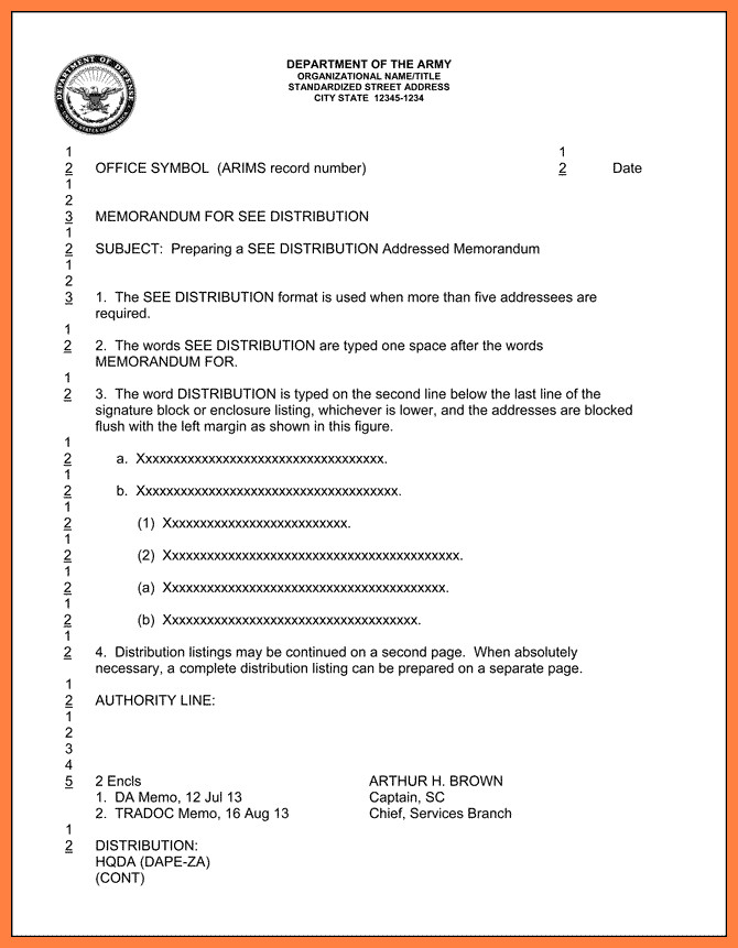 Army Memorandum for Record Template 5 Dod Letterhead Template