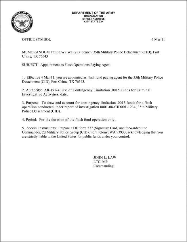 Army Memorandum for Record Template Army Memorandum Template