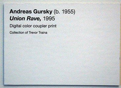 Art Show Label Template andreas Gursky Union Rave De Young Museum Label