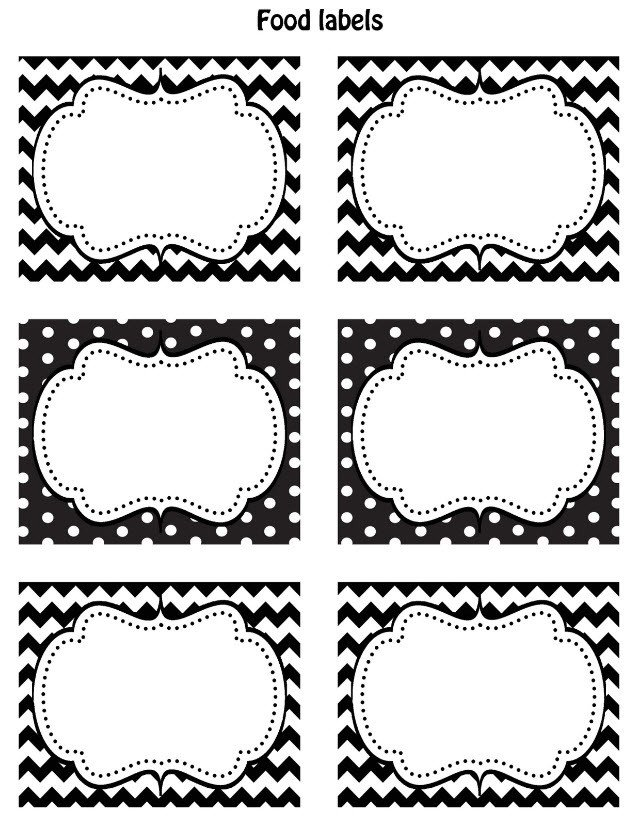 Art Show Label Template Free Black & White Printable Labels Celebrations at Home