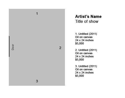 Art Show Label Template How to Label Artwork In An Exhibition
