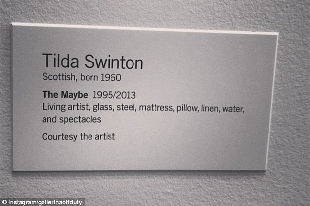 Art Show Label Template Star Gazing Anyone Tilda Swinton now On Display Sleeping