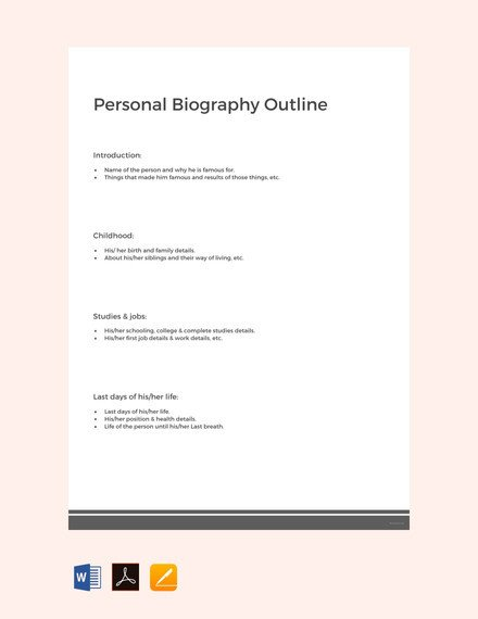 Artist Bio Template Word 25 Biography Templates Doc Pdf Excel