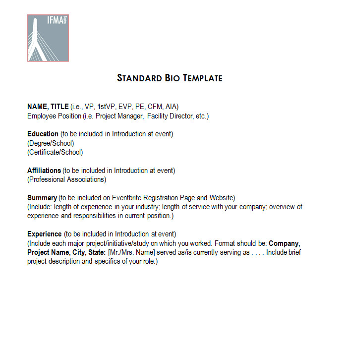 Artist Bio Template Word 45 Biography Templates & Examples Personal Professional