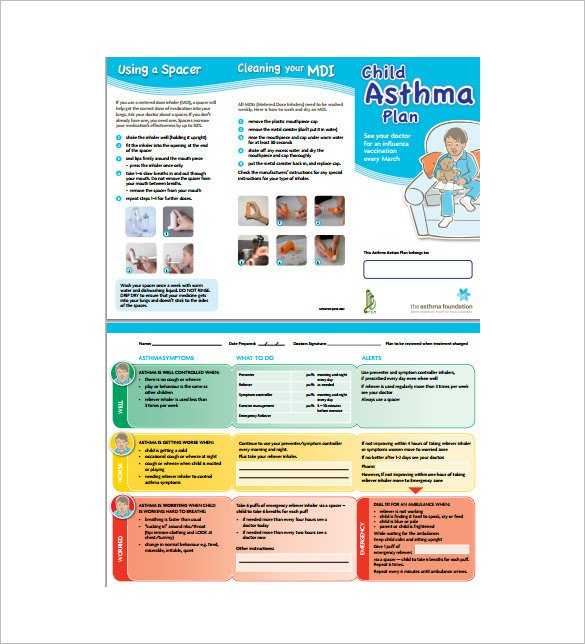 Asthma Action Plan Template asthma Action Plan Template – 13 Free Sample Example