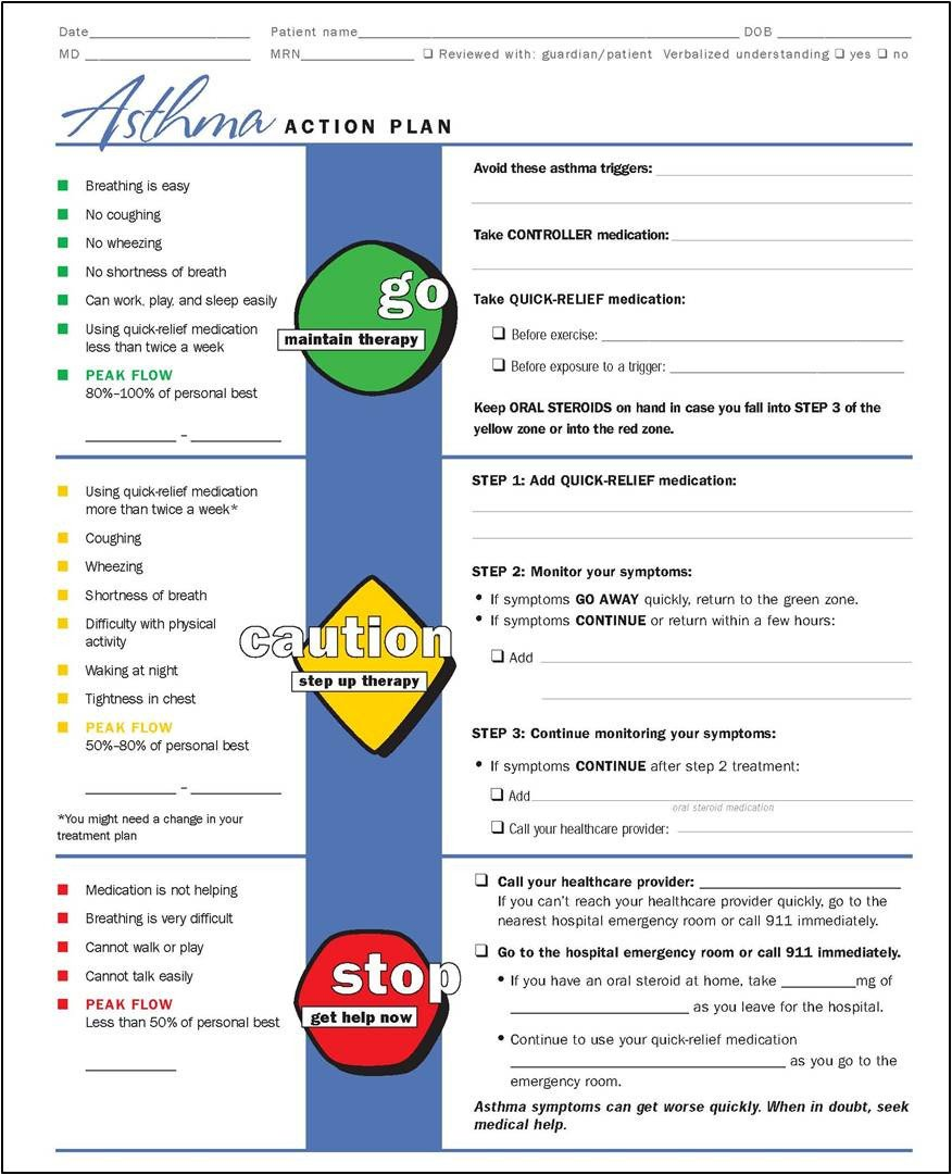Asthma Action Plan Template My Life as An asthma Mom July 2012