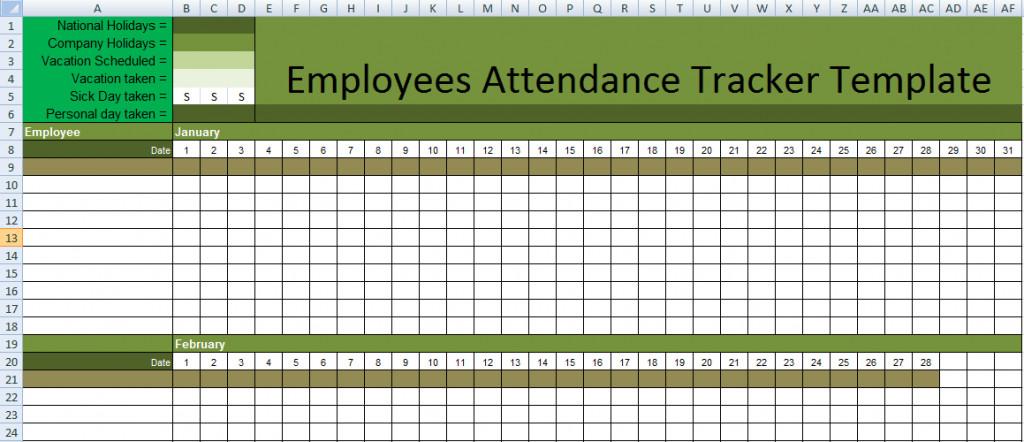 Attendance Sheet Template Excel Stunning Employee attendance Tracker Template In Excel